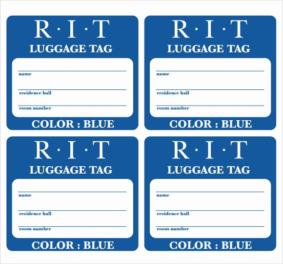 Printable Luggage Tags Template Unique 29 Luggage Tag Templates for Free Download