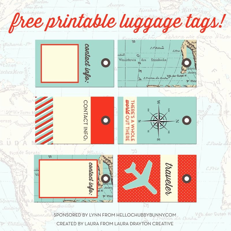 Printable Luggage Tags Template Unique Free Printable Designer Luggage Tags and Your Chance to