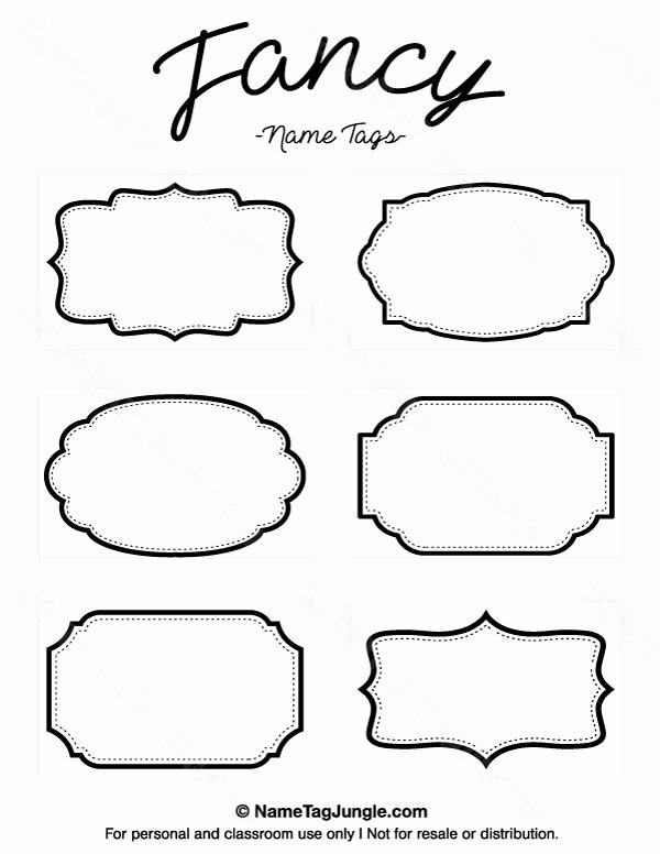 Printable Name Tag Template Awesome Pin by Muse Printables On Name Tags at Nametagjungle