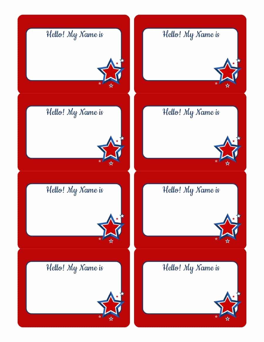 Printable Name Tag Template Beautiful 47 Free Name Tag Badge Templates Template Lab