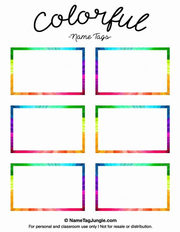 Printable Name Tag Template Beautiful Printable Name Tag Templates