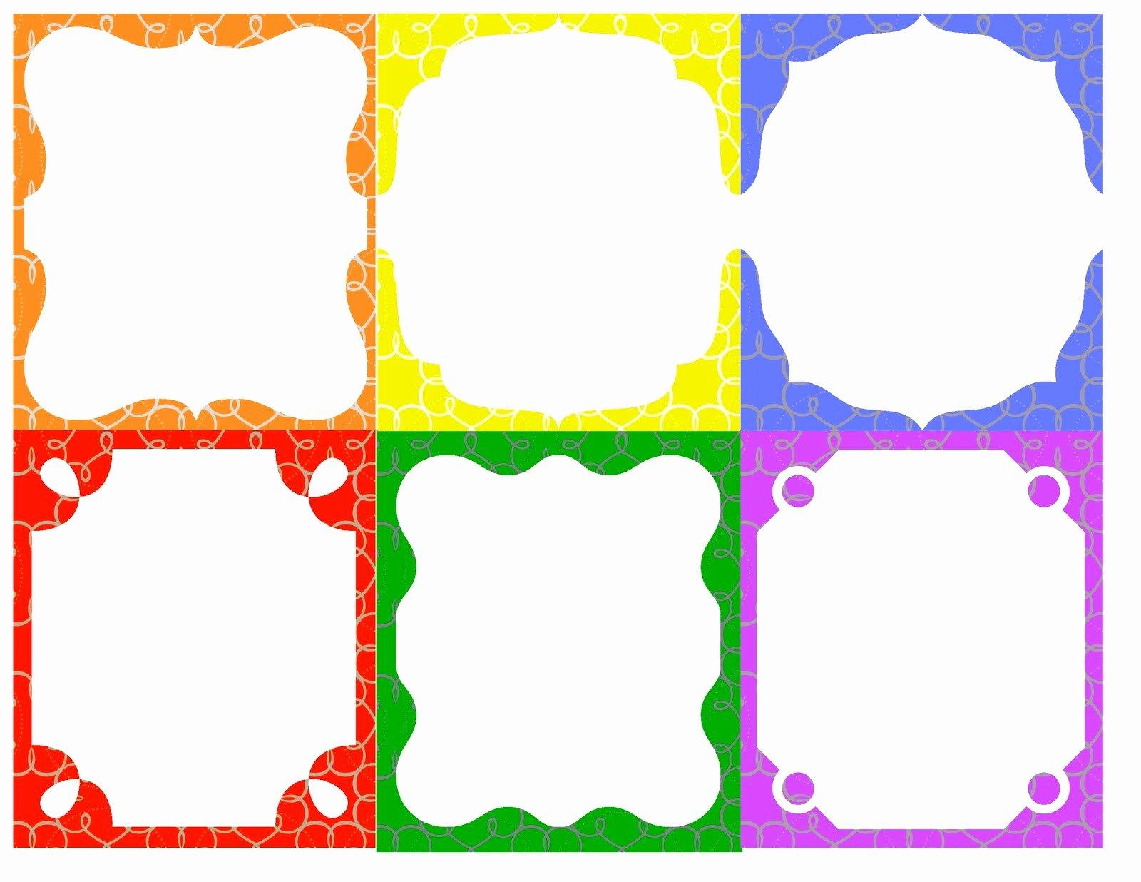 post free border templates printable badge