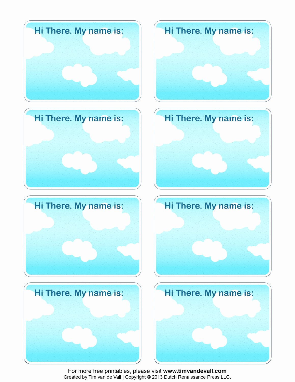 Printable Name Tag Template Elegant 6 Best Of Name Label Template Printable Free