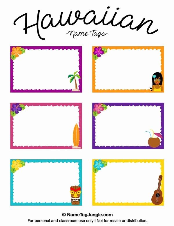 Printable Name Tag Template Elegant Free Printable Hawaiian Name Tags the Template Can Also