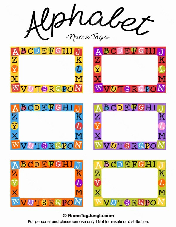 Printable Name Tag Template Luxury Free Printable Alphabet Name Tags the Template Can Also