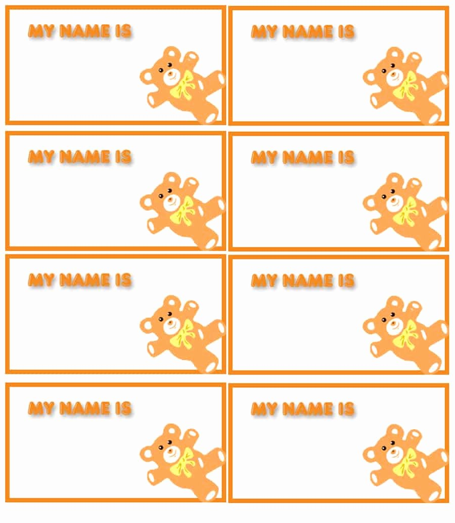 Printable Name Tag Template Unique 47 Free Name Tag Badge Templates Template Lab