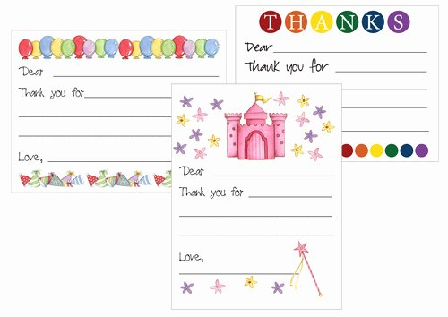 Printable Note Card Template Fresh Printable Thank You Card Templates for Kids