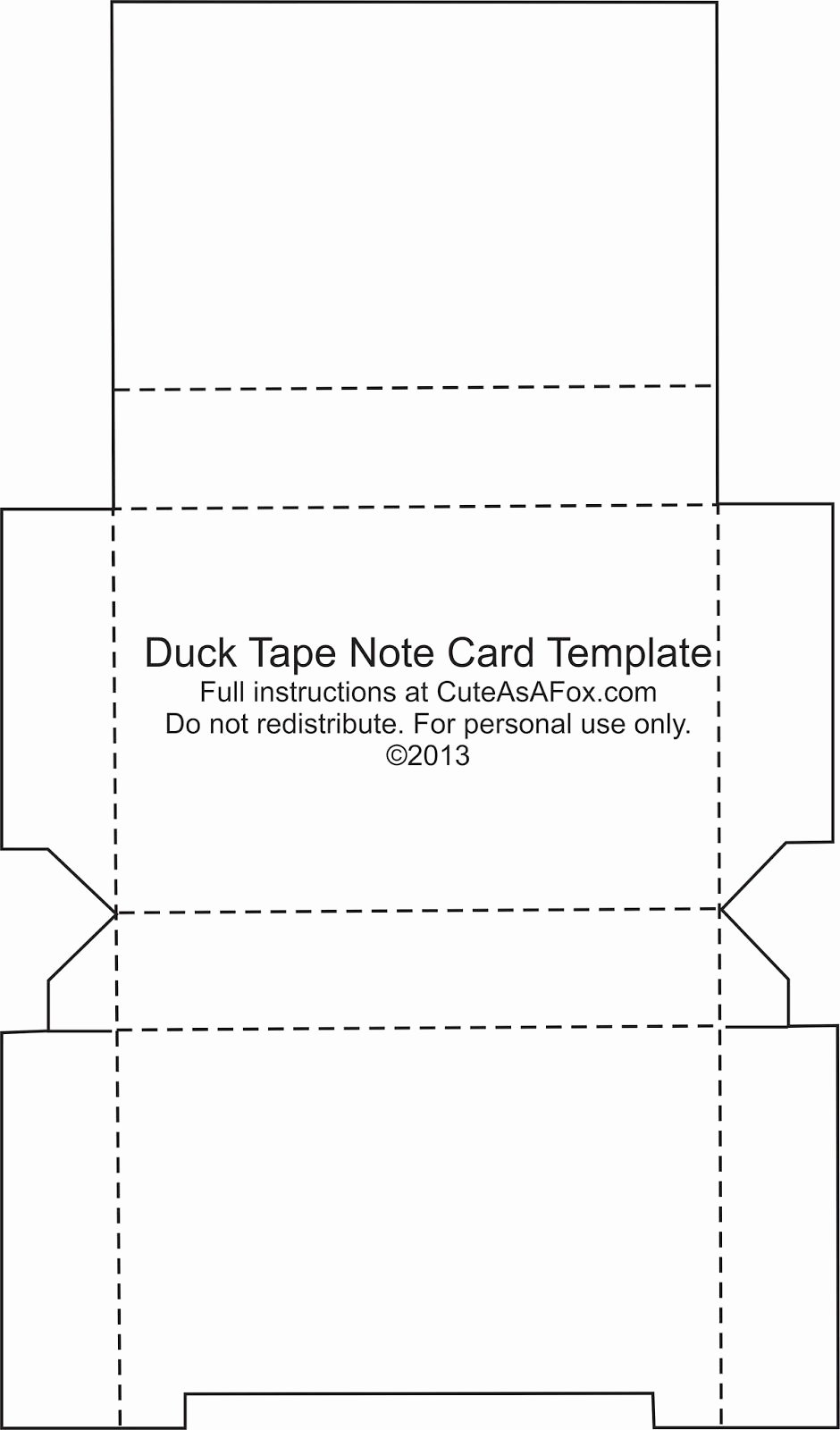 Printable Note Card Template Luxury Duck Tape Flash Card Holder Duct Tape