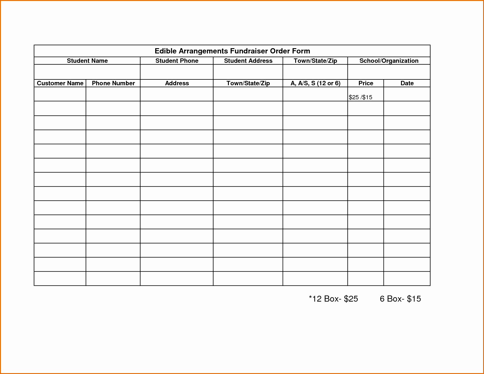 Printable order form Template Best Of Fundraising forms Templates Free Sample Business Loan