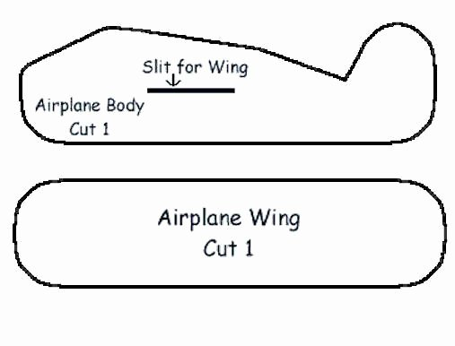 Printable Paper Airplane Template Awesome Styrofoam Airplane Craft