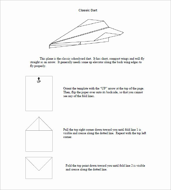 Printable Paper Airplane Template Beautiful 15 Paper Airplane Templates Psd Pdf