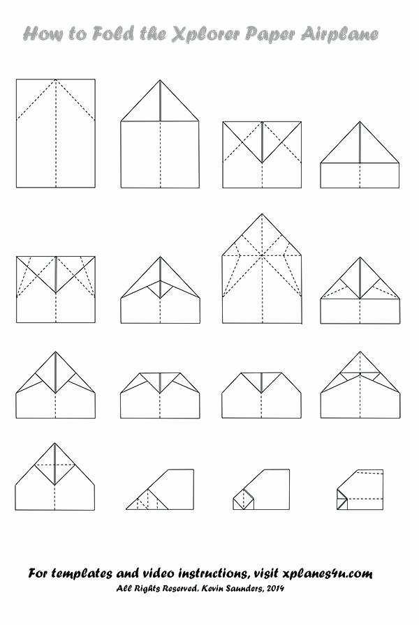Printable Paper Airplane Template Inspirational Paper Airplane Templates About Paper Airplanes