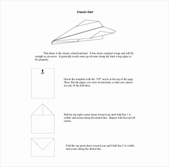 Printable Paper Airplane Template New 12 Paper Airplane Templates – Free Sample Example
