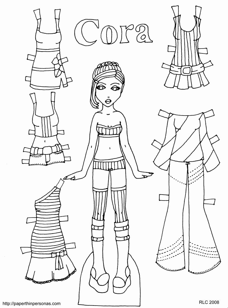 Printable Paper Doll Template Awesome 66 Best Printables Images On Pinterest