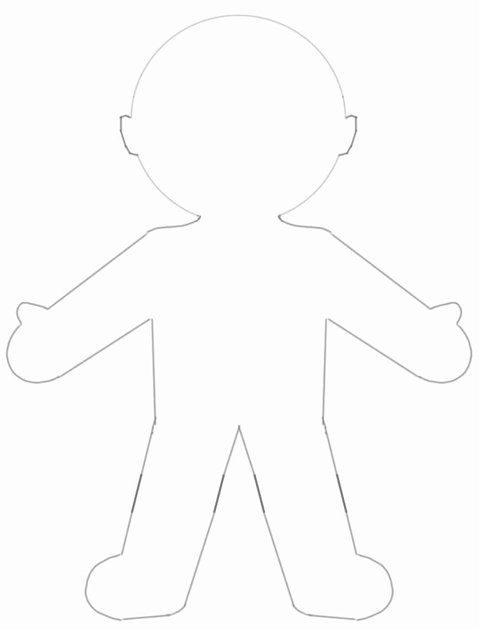 Printable Paper Doll Template Awesome Paper Doll Template Category Page 1 Brsata