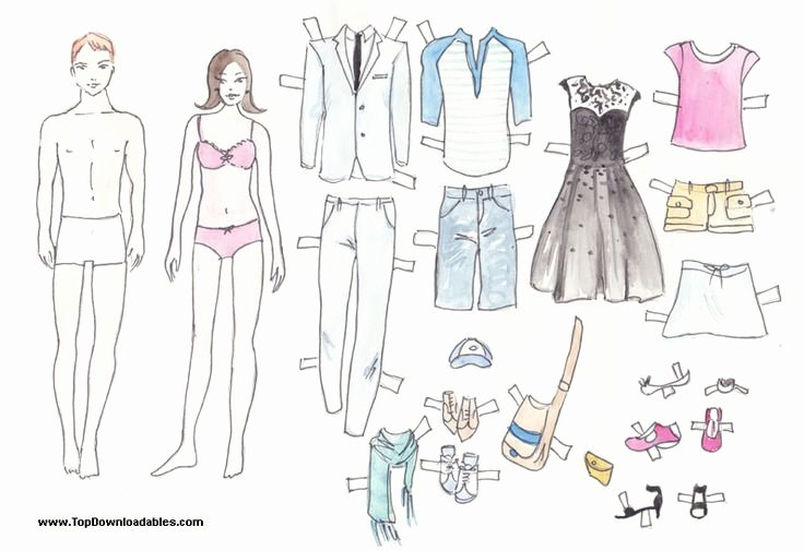 Printable Paper Doll Template Beautiful Free Printable Paper Doll Cutout Templates for Kids and