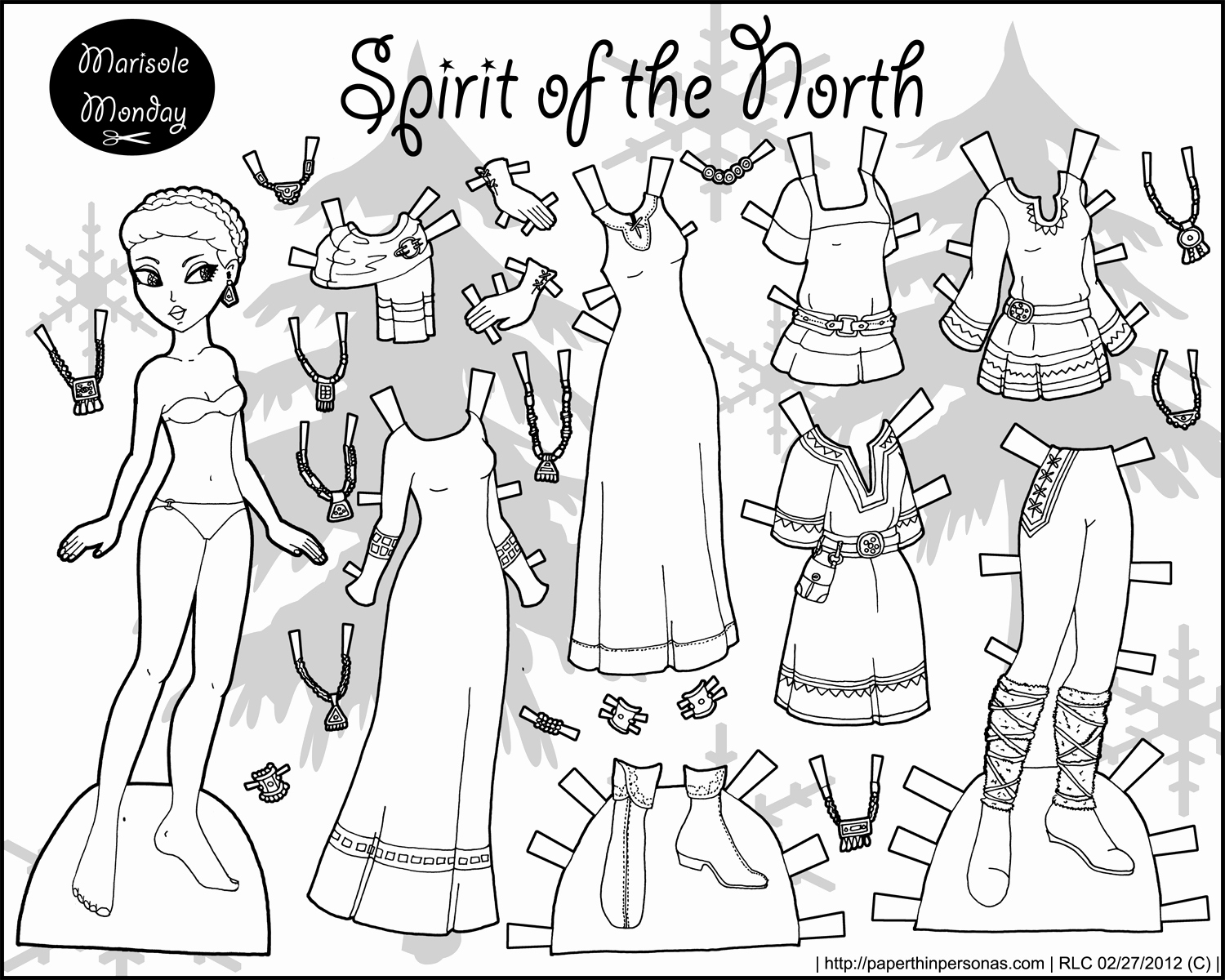 Printable Paper Doll Template Lovely Fairy Archives • Page 2 Of 3 • Paper Thin Personas