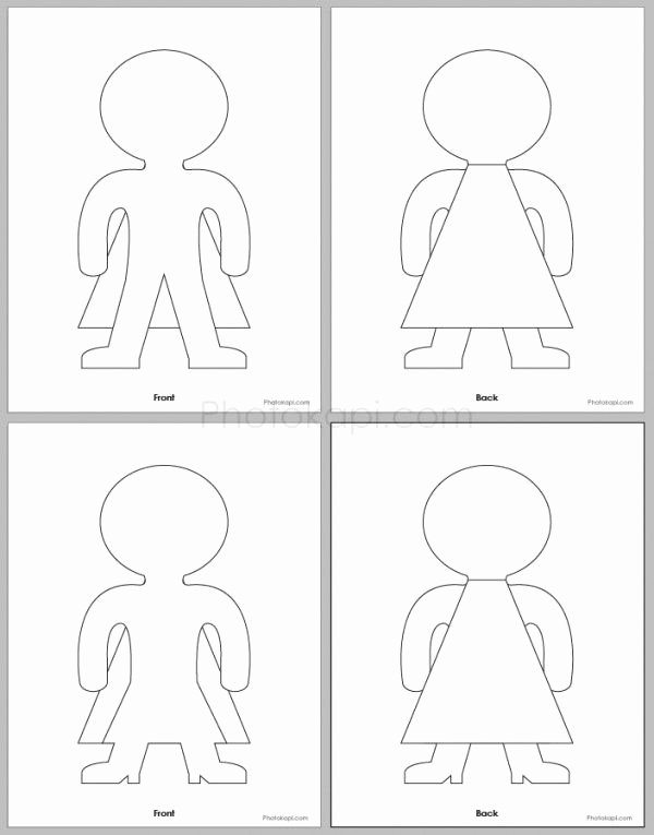 Printable Paper Doll Template New Lots and Lots Of Printables and Cutouts for Fun