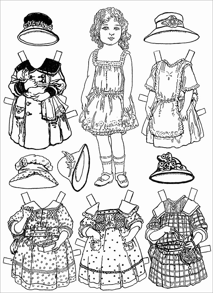Printable Paper Doll Template Unique Paper Dolls