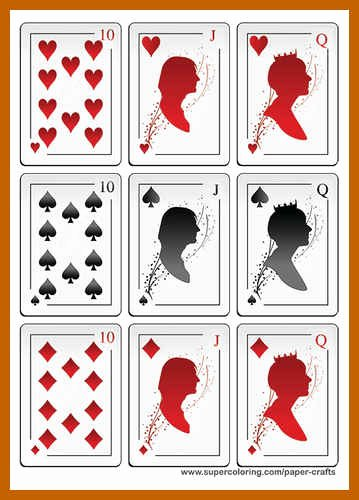Printable Playing Card Template Best Of 9 10 Playing Card Templates