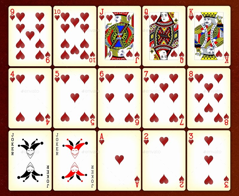 Printable Playing Card Template Best Of Pretty Playing Cards Template Blank Playing