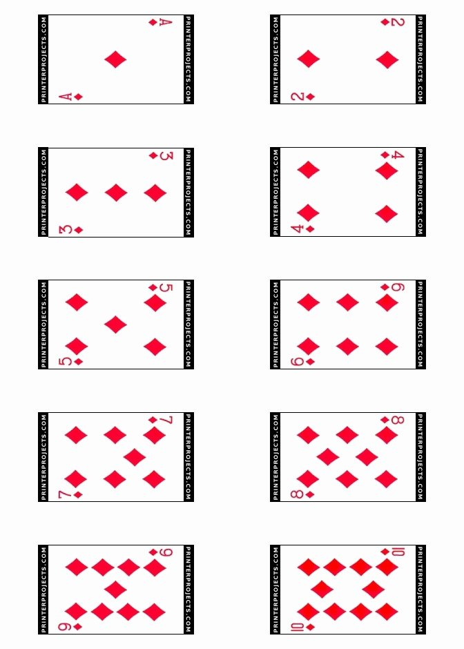 Printable Playing Cards Template Awesome Best S Of Playing Card Templates for Word Playing