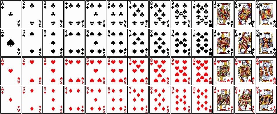 Printable Playing Cards Template Fresh Printable Playing Cards Pdf