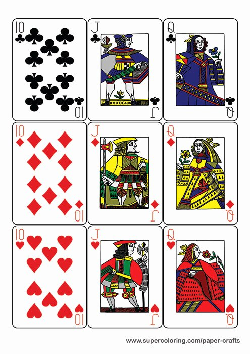 Printable Playing Cards Template New Guyenne Classic Deck Of Playing Cards Printable Template