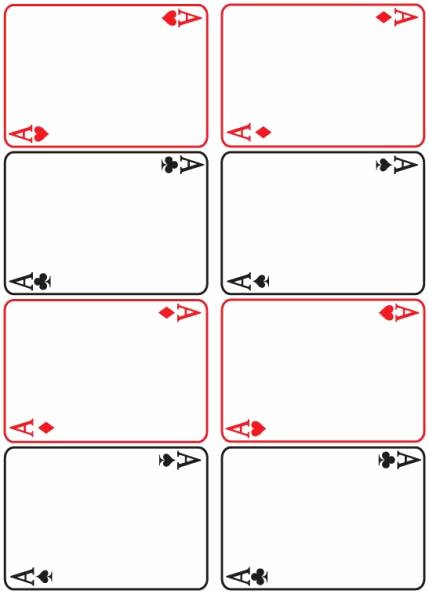 Printable Playing Cards Template Unique 8 Best Of Blank Playing Card Printable Template for