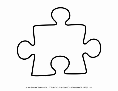 Printable Puzzle Pieces Template Best Of Blank Puzzle Piece Template Free Single Puzzle Piece