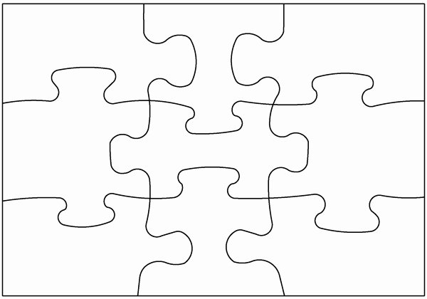 Printable Puzzle Pieces Template Best Of Blank Puzzle Pieces Free Download Clip Art