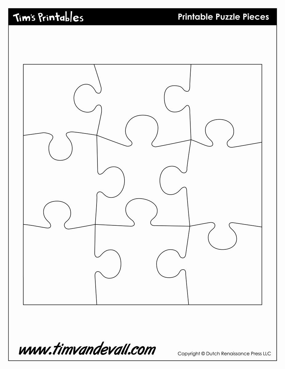 Printable Puzzle Pieces Template Elegant Puzzle Template Tim S Printables