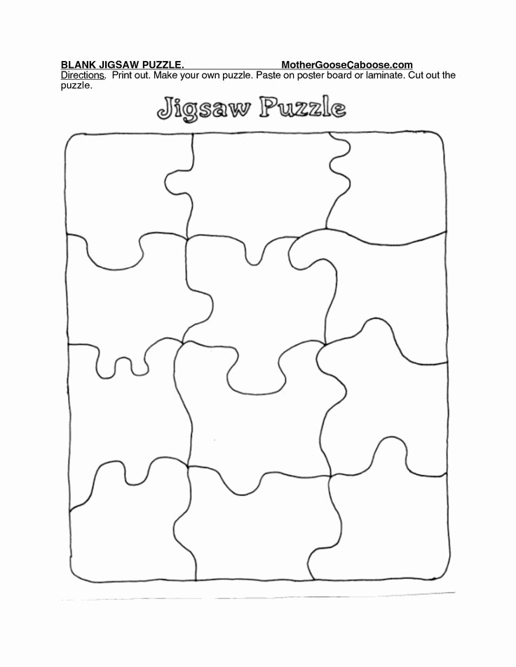 Printable Puzzle Pieces Template Fresh Best 25 Puzzle Piece Template Ideas On Pinterest