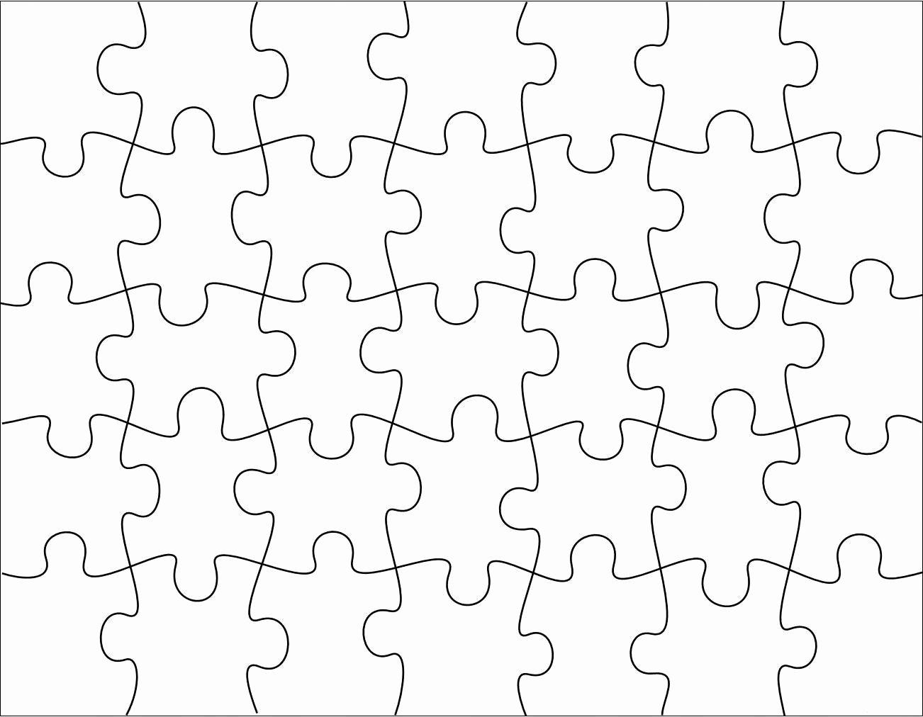 Printable Puzzle Pieces Template Unique Free Puzzle Piece Template Download Free Clip Art Free