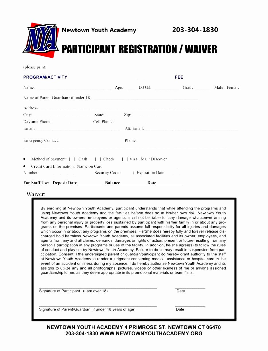Printable Registration form Template Unique 7 Baseball Registration form Template Piuur