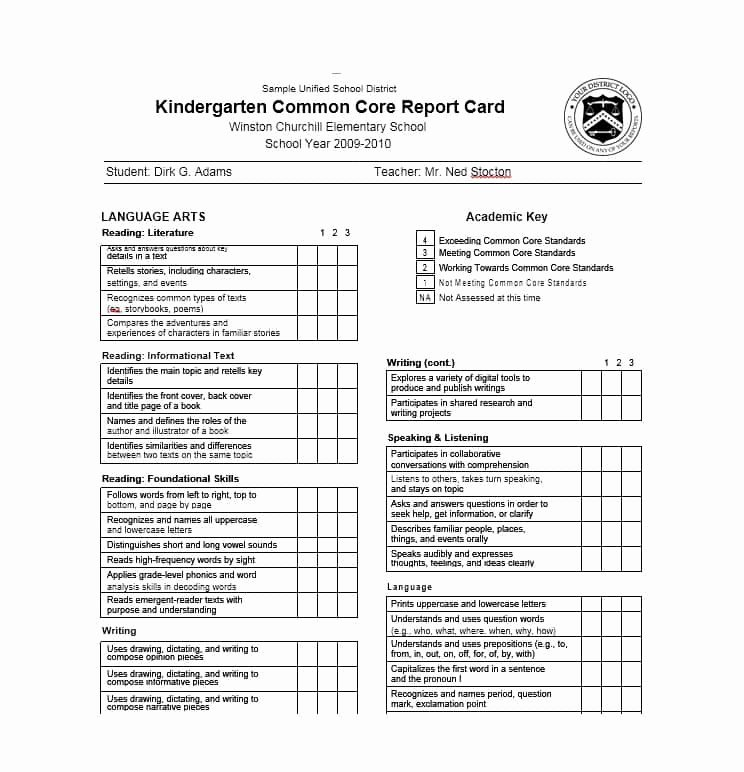 Printable Report Card Template Awesome 30 Real & Fake Report Card Templates [homeschool High