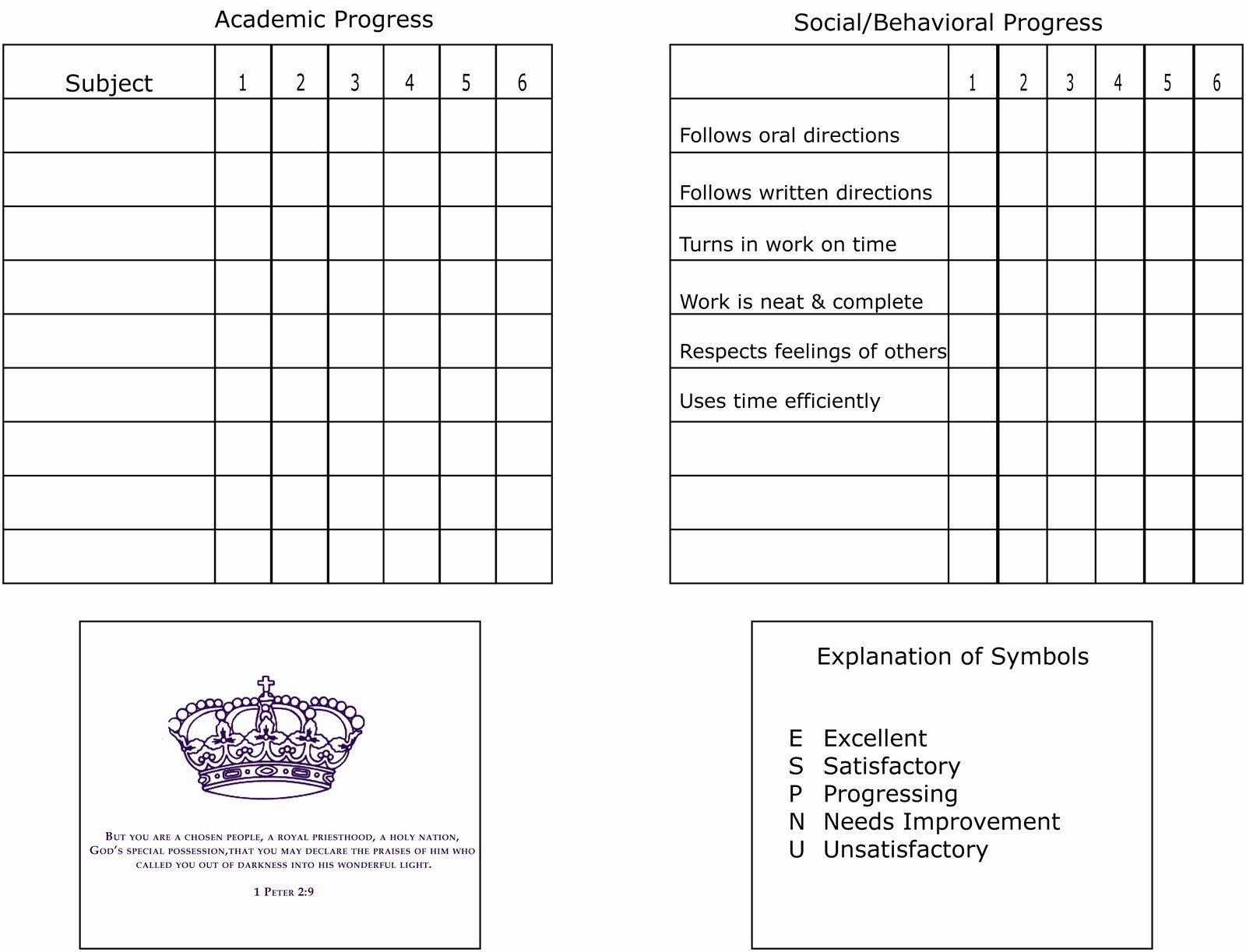 Printable Report Card Template Fresh Printable Report Card Template