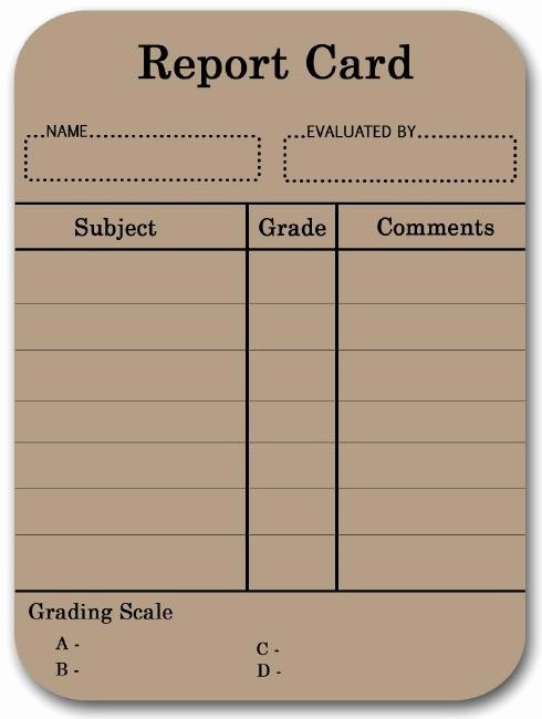 Printable Report Card Template Lovely 17 Best Images About Report Cards On Pinterest