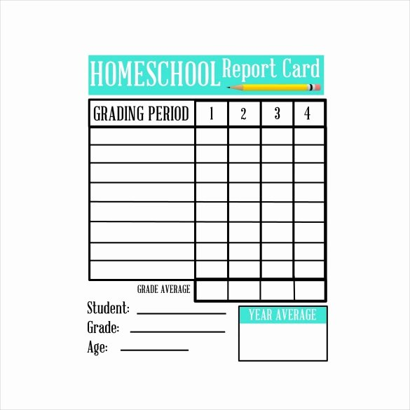 Printable Report Card Template Luxury Free Homeschool Report Card Template 2016
