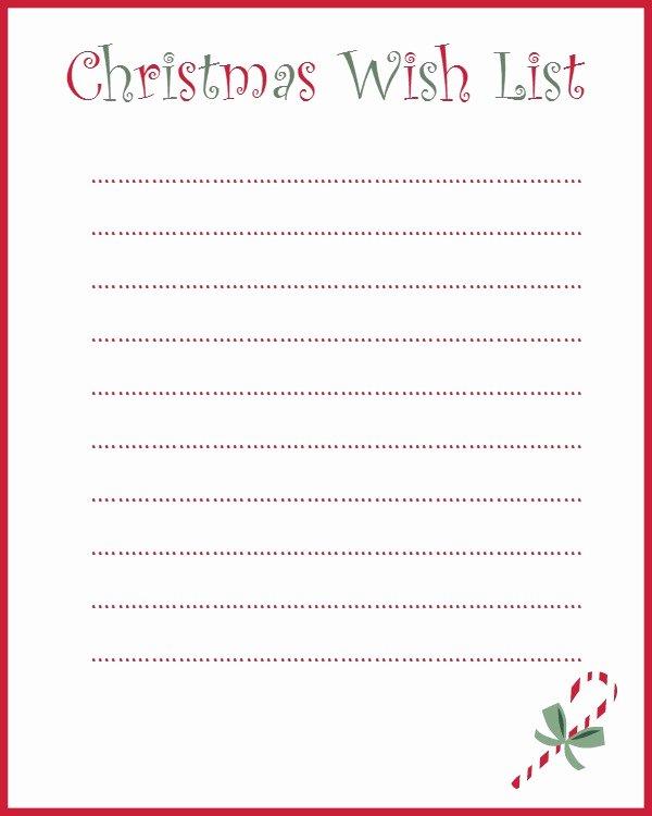 Printable Wish List Template Awesome My Grown Up Christmas Wish List and A Free Printable