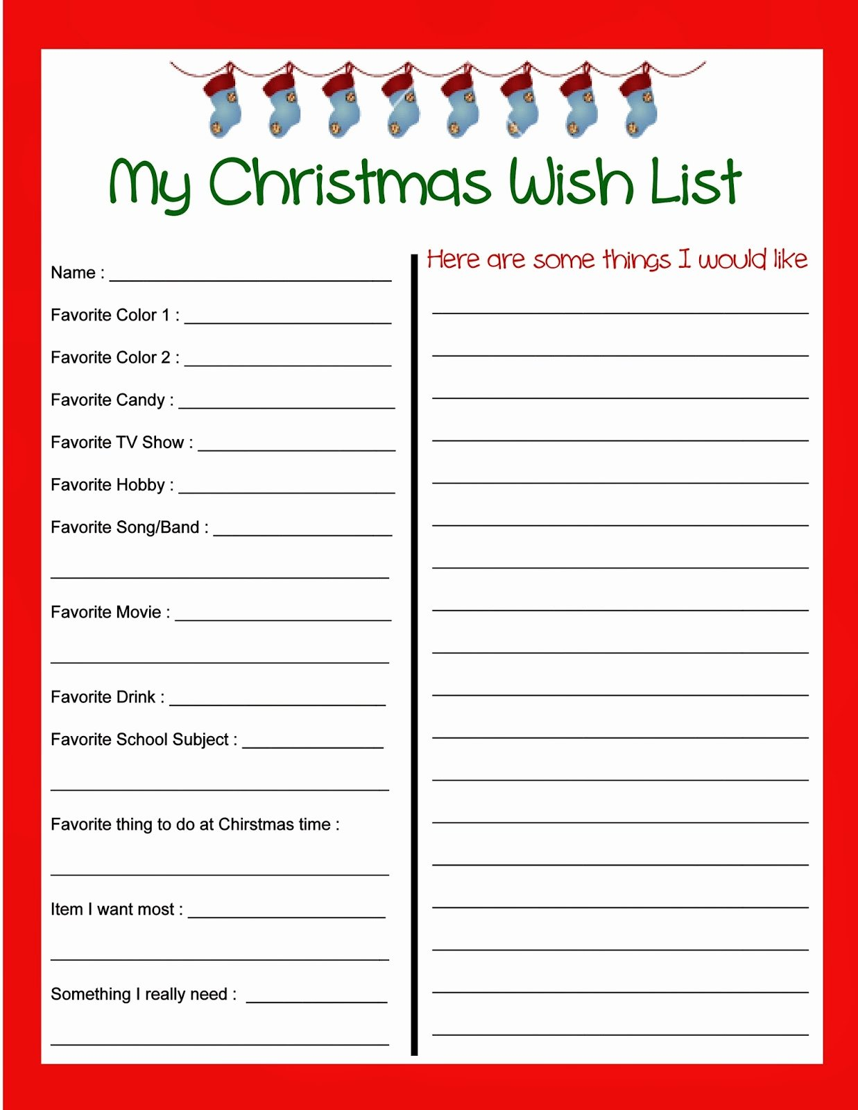 Printable Wish List Template Beautiful 6 Best Of Teacher Wish List Printable Teacher