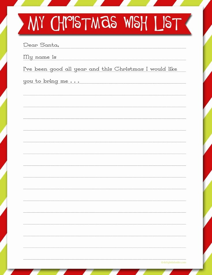 Printable Wish List Template Best Of Best 25 Christmas List Printable Ideas On Pinterest
