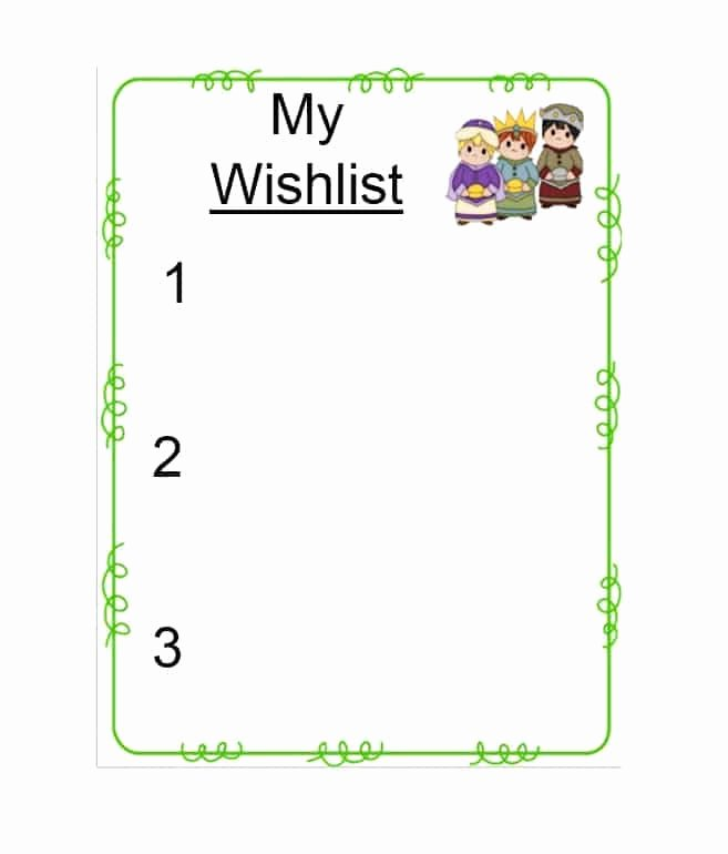 Printable Wish List Template Elegant 43 Printable Christmas Wish List Templates & Ideas