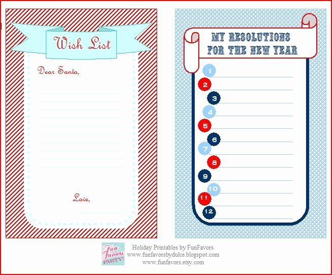 Printable Wish List Template Inspirational Funfavors events Free Printable Wish List & Your
