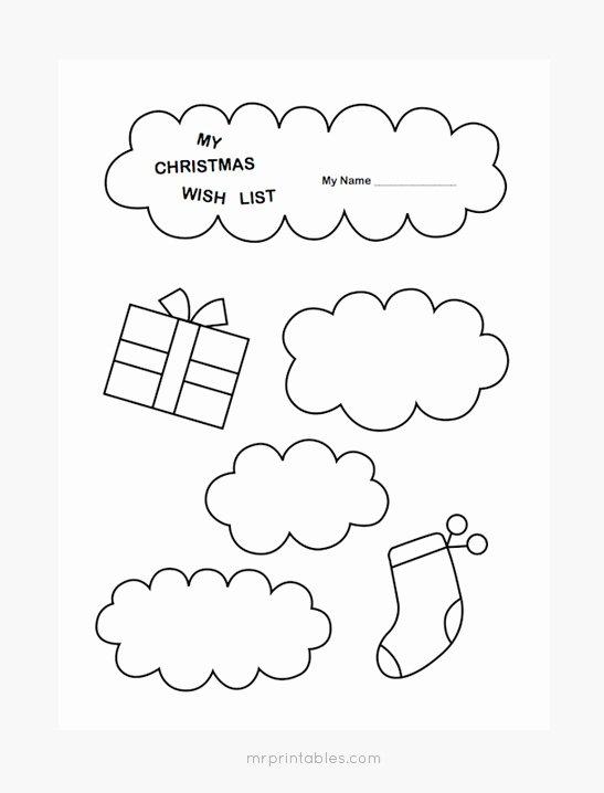 Printable Wish List Template New Christmas Wish List Templates Mr Printables