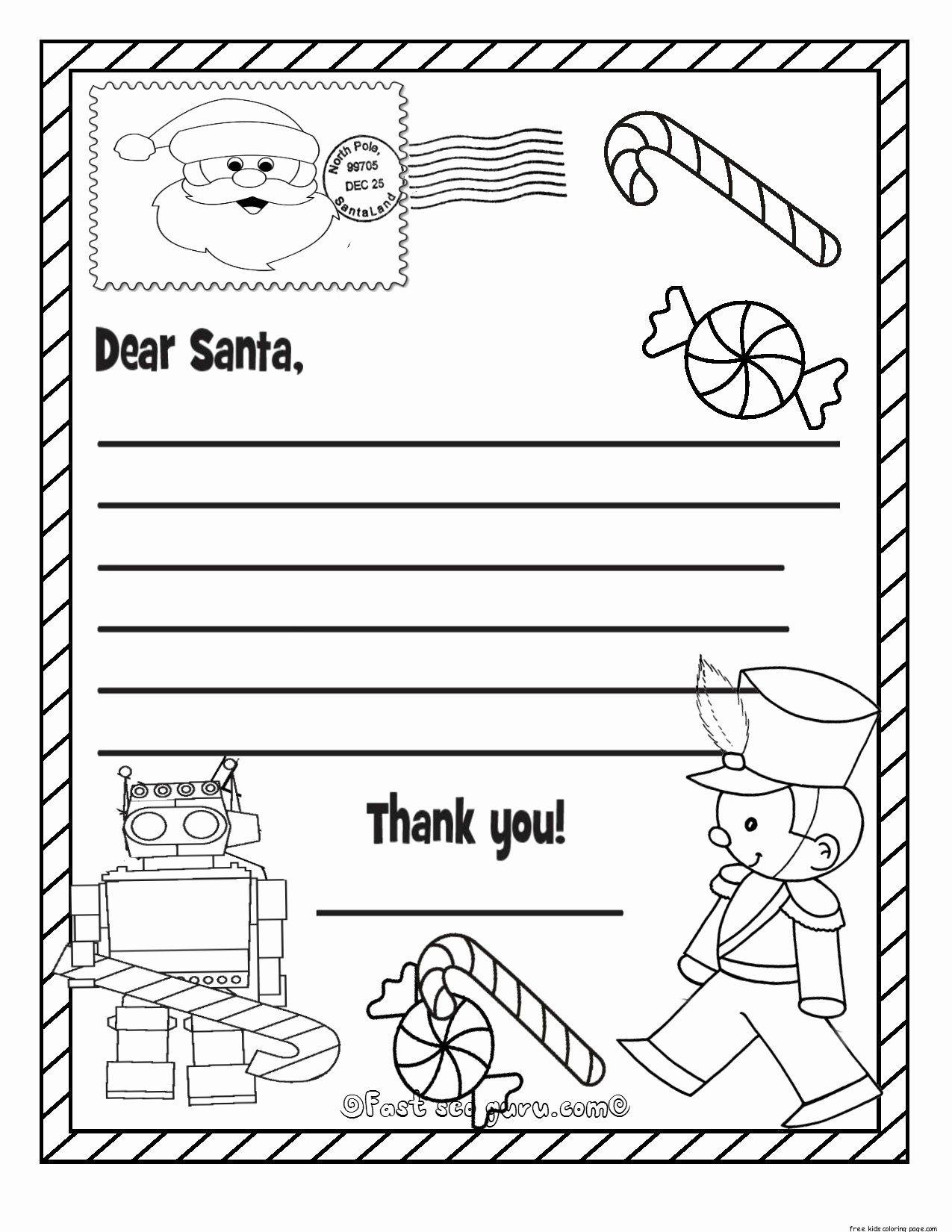 Printable Wish List Template Unique Printable Christmas Wish List to Santa Claus for Kids for
