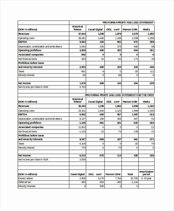 Pro forma Budget Template Best Of 15 Pro forma Templates Free Excel Word Pdf formats