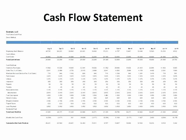 Pro forma Budget Template Luxury Pro forma Cash Flow Template