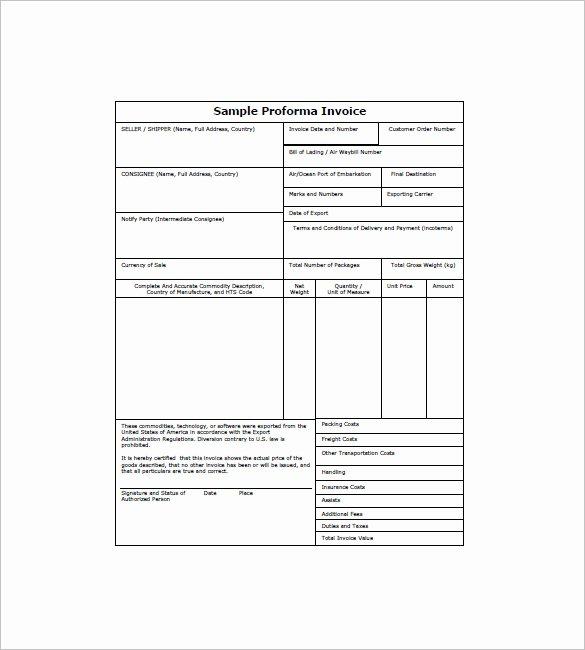 Pro forma Invoice Template Best Of 15 Proforma Invoice Templates Pdf Doc Excel