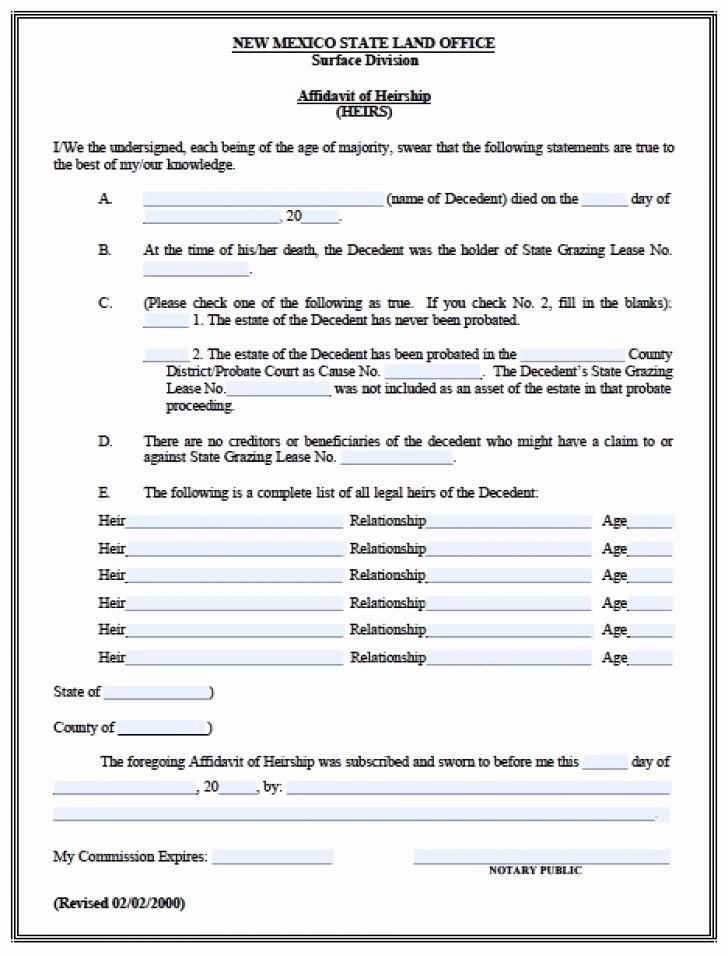 Probate Accounting Template Excel Best Of Free Affidavit Fact form Probate Accounting Template